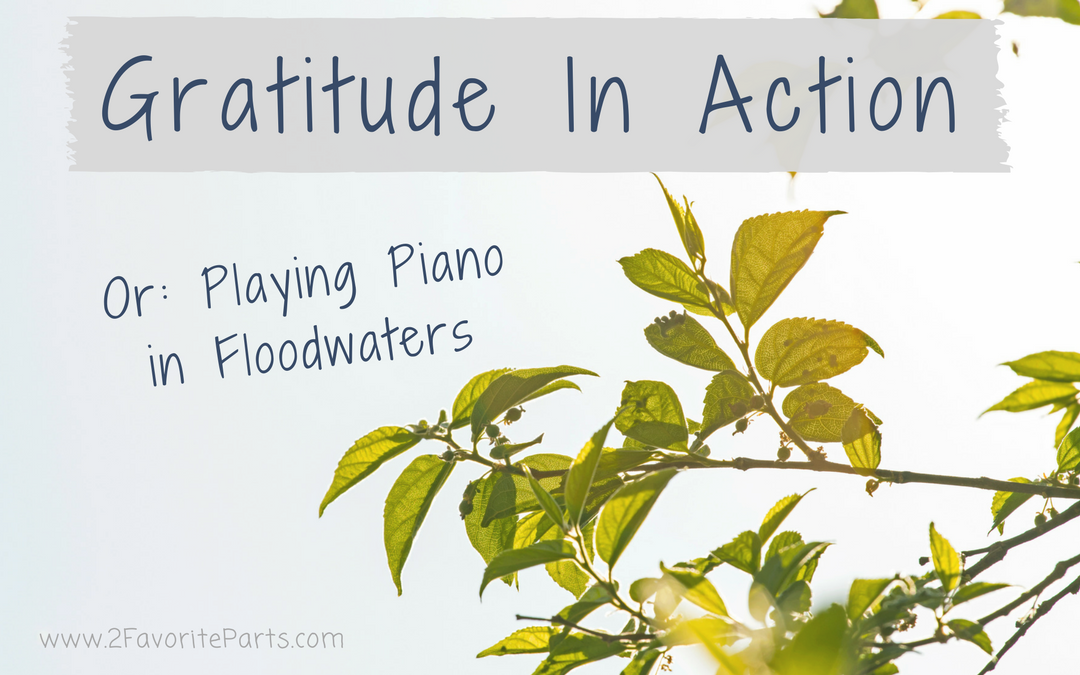 Gratitude in Action: Playing Piano in Floodwaters